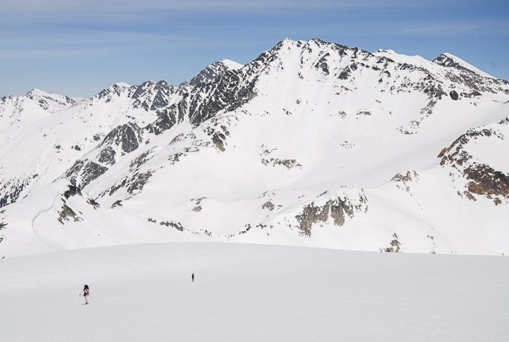 Ascending Iago Glacier on the Spearhead Traverse