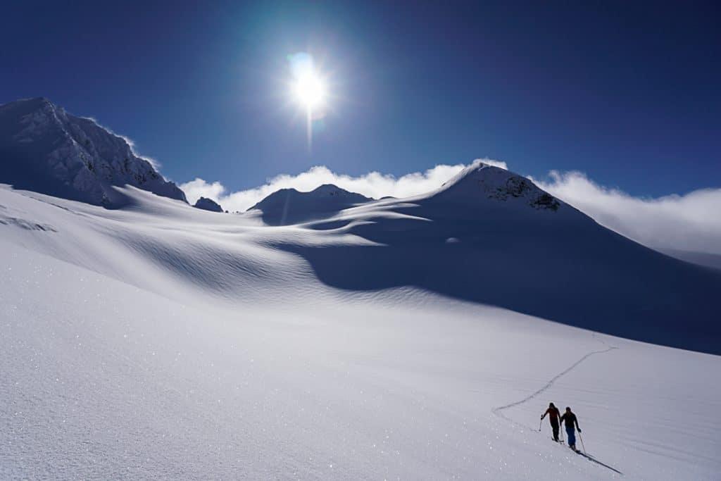 Ascending Tremor Glacier  on the Spearhead Traverse