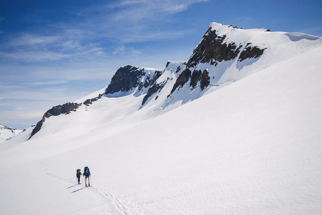 Ascending from the Overlord Glacier to the Fissile-Whirlwind Col on the Spearhead Traverse