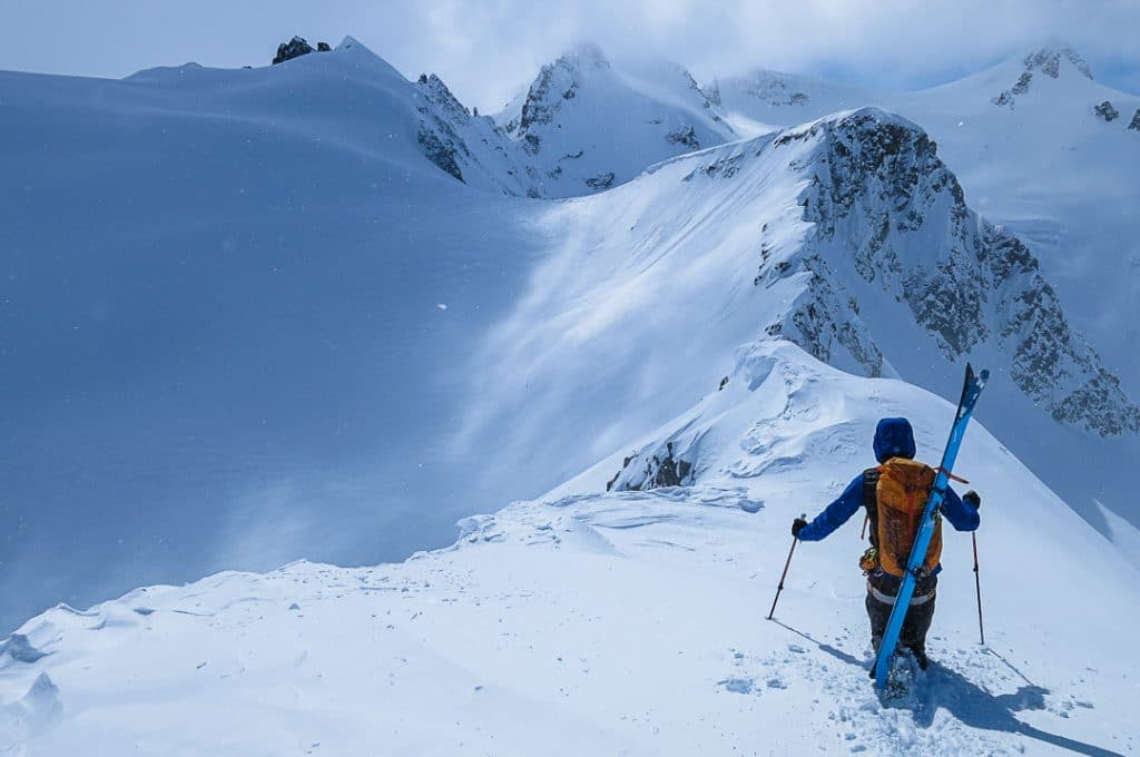 Bootpacking along the Couloir Ridge to Iago Ridgeline on the Spearhead Traverse
