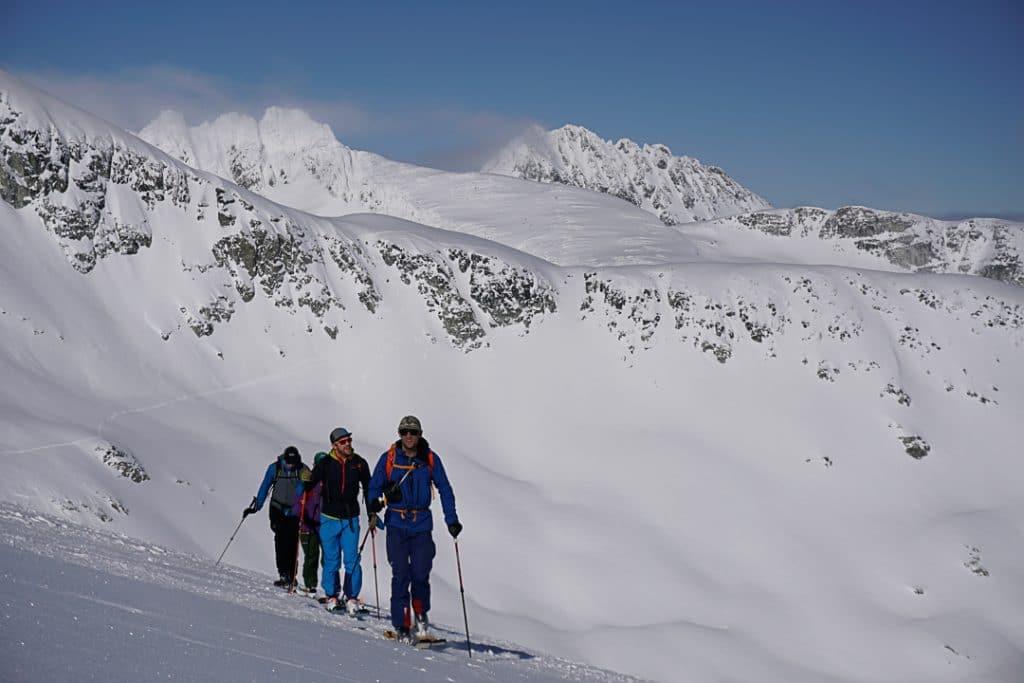 Crossing Trorey Glacier  on the Spearhead Traverse