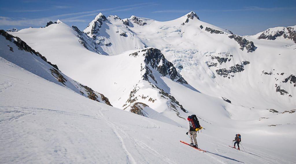 Descending MacBeth Glacier on the Spearhead Traverse