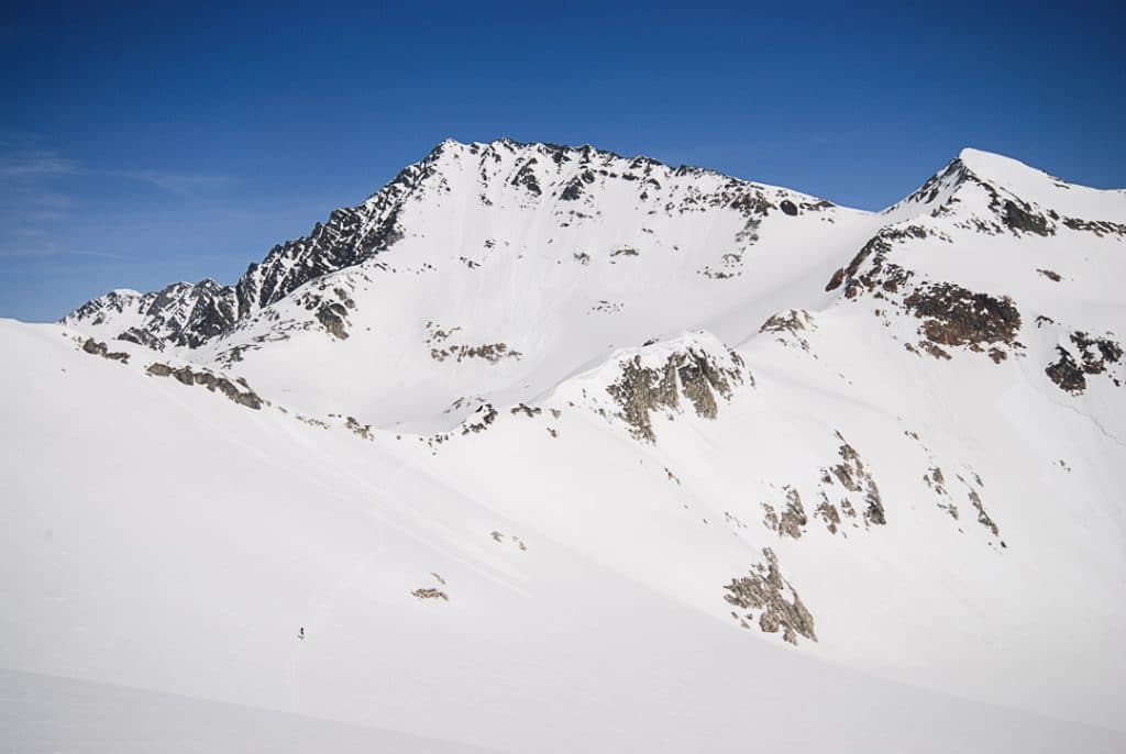 Crossing onto the Iago Glacier on the Spearhead Traverse