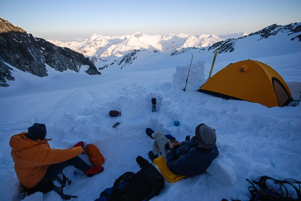 Quiver-Ripsaw Col Camp on the Spearhead Traverse
