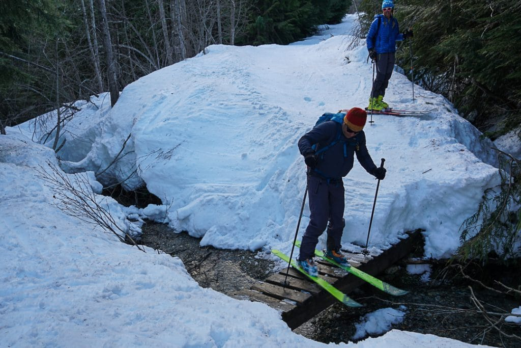 Creek Crossing on Singing Pass Trail on the Spearhead Traverse