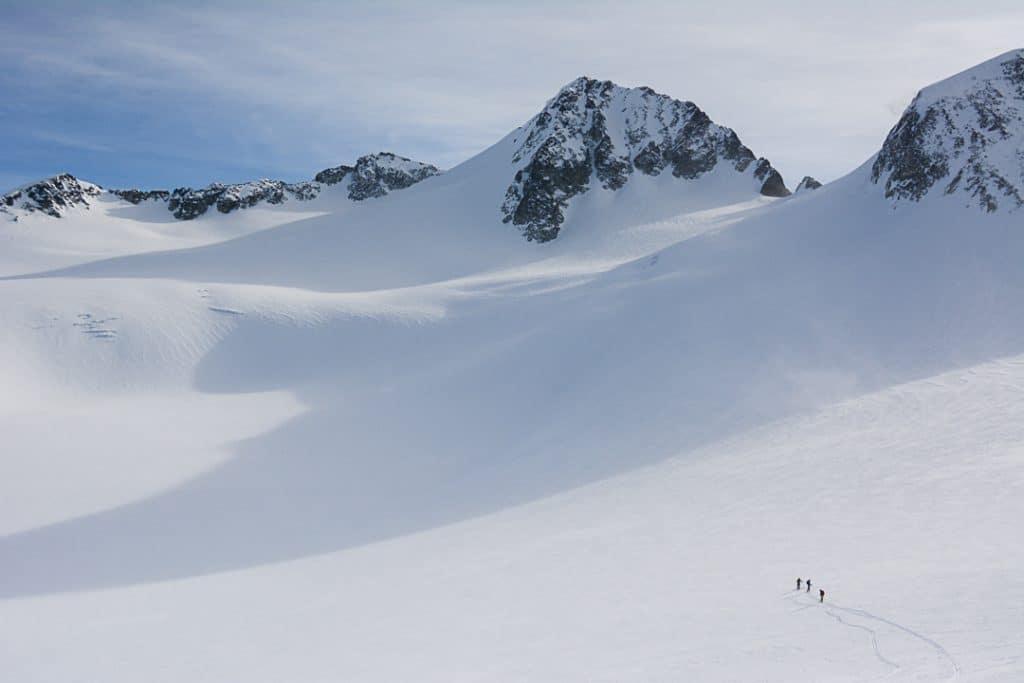 Tremor Glacier below Mount Pattison on the Spearhead Traverse
