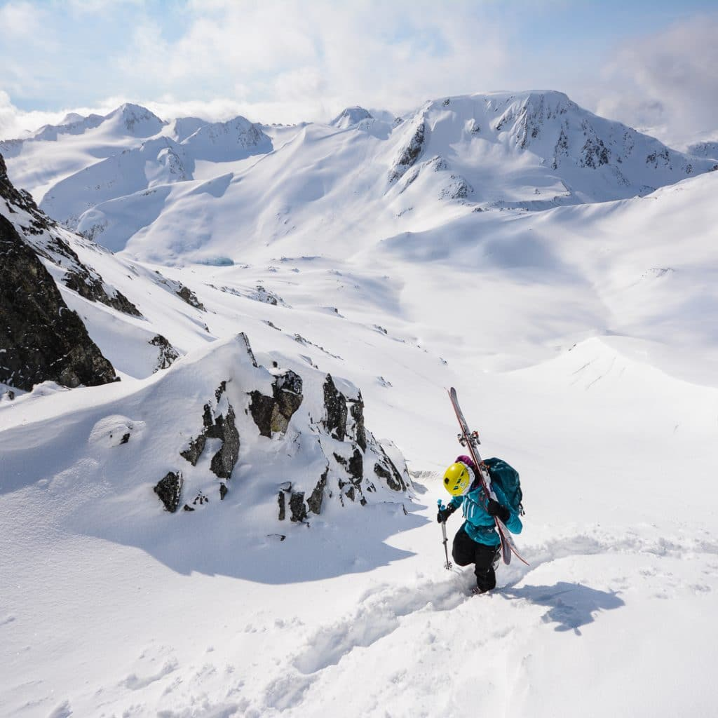 Bootpacking to Guides Notch in the Blackcomb Backcountry in the Spearhead Range